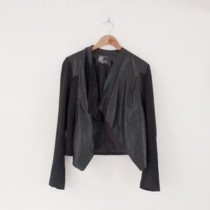 Kut From The Kloth Black Faux Leather Moto Jacket